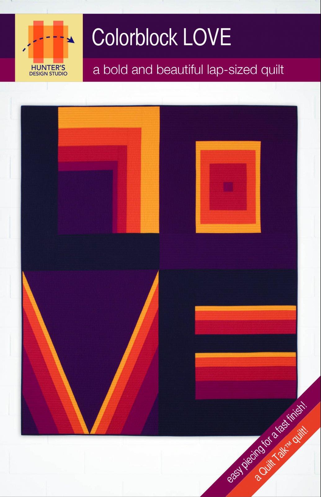Colorblock LOVE Quilt Pattern