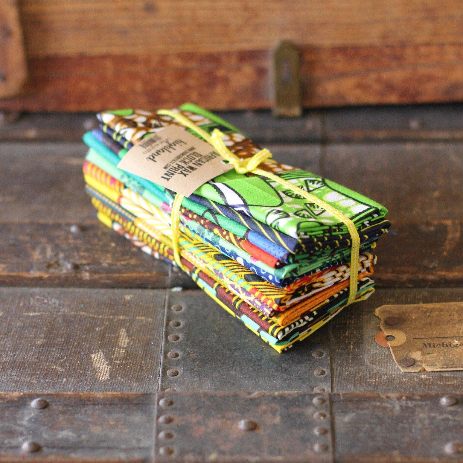 African Wax Block Print - 14 pc. Fat Eighth Bundle (Highland)
