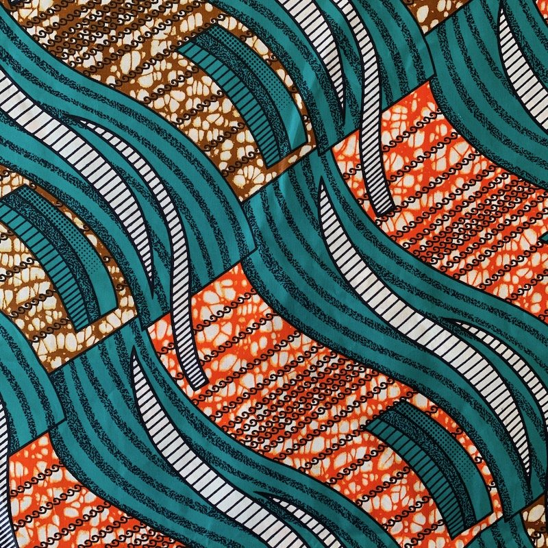 Three Yard Cut African Wax Block Fabric (Lesotho)