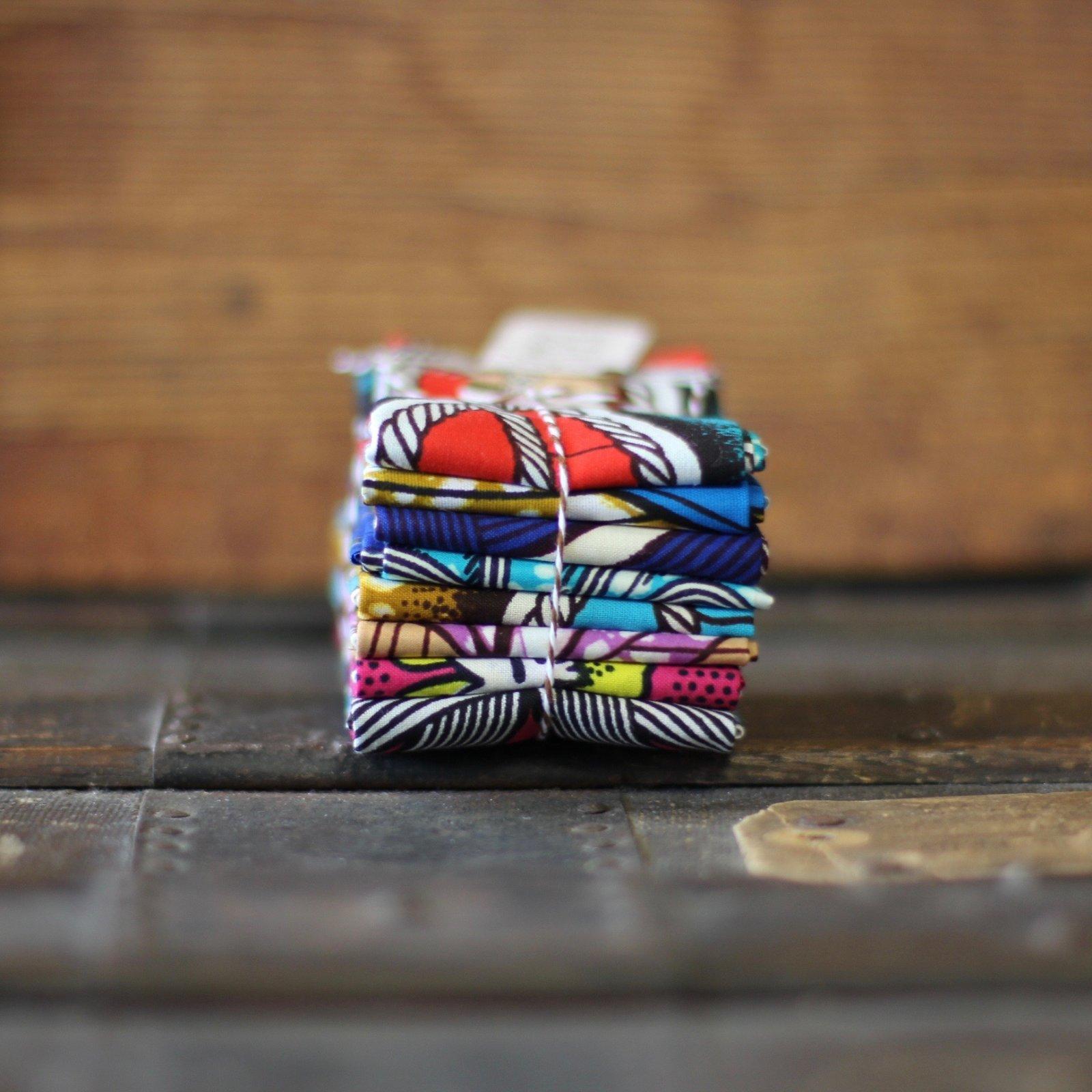 African Block Print - 8 pc. Fat Eighth Bundle (Monifa)