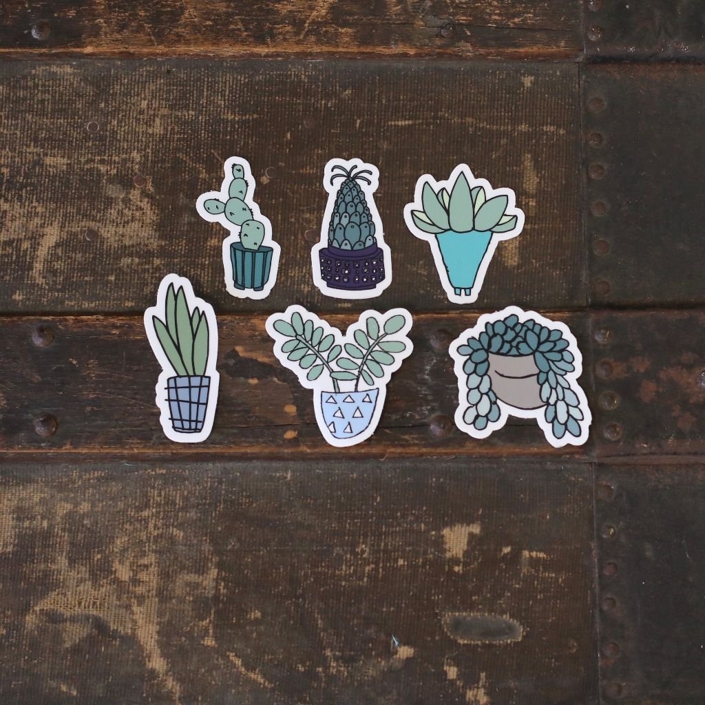 Succulent Lover Sticker Pack #2 (6-stickers)