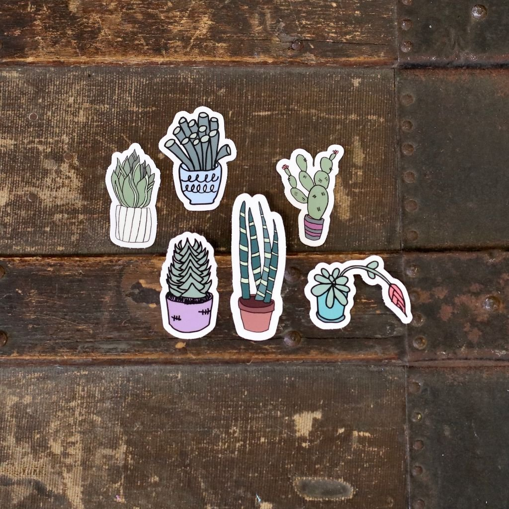Succulent Lover Sticker Pack #1 (6-stickers)