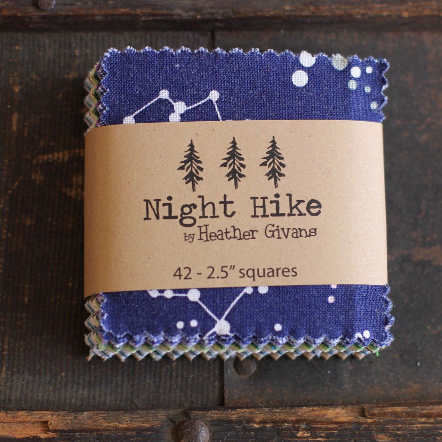 Night Hike Mini Charms - (42) 2.5 squares