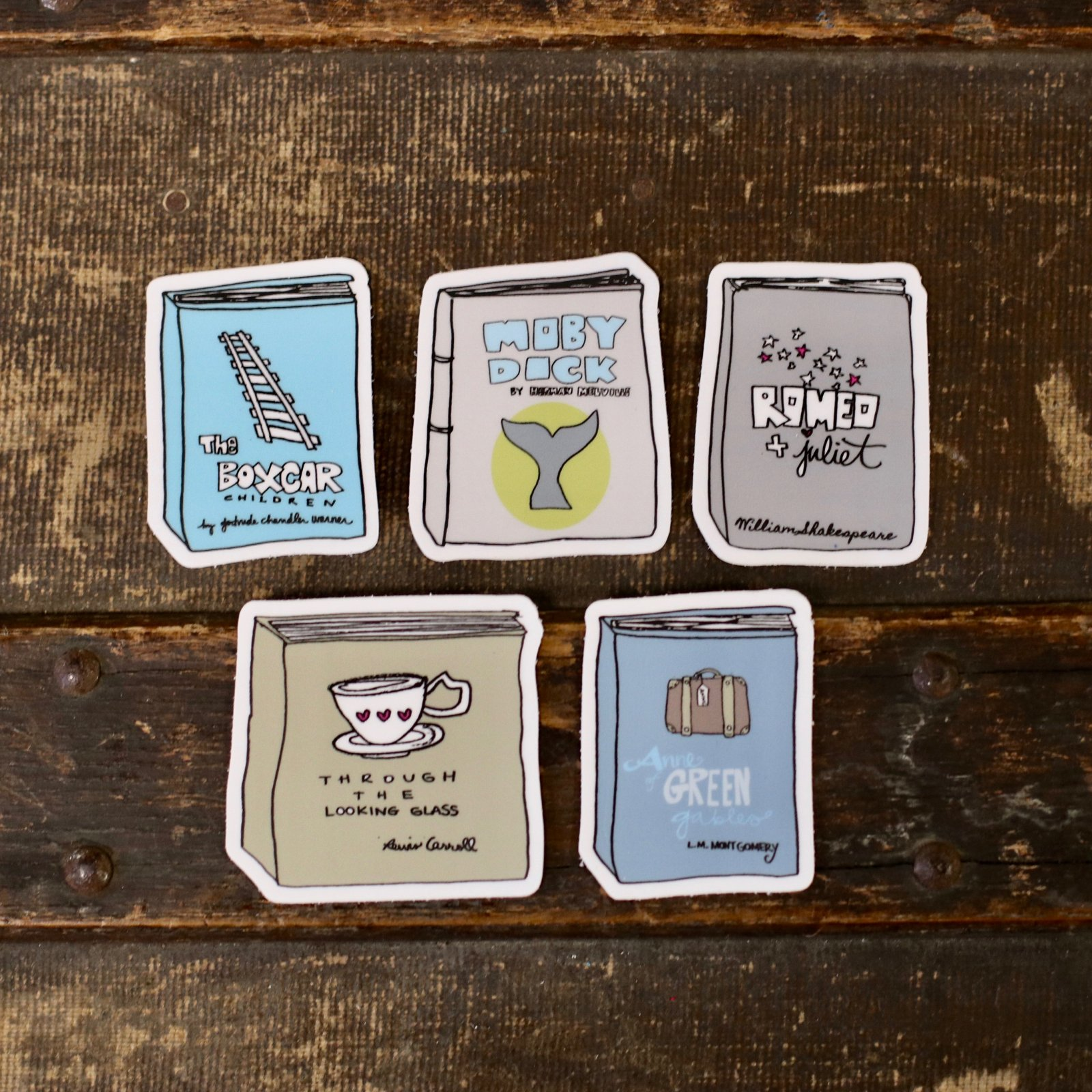 Literary Stickers (5 pc.)