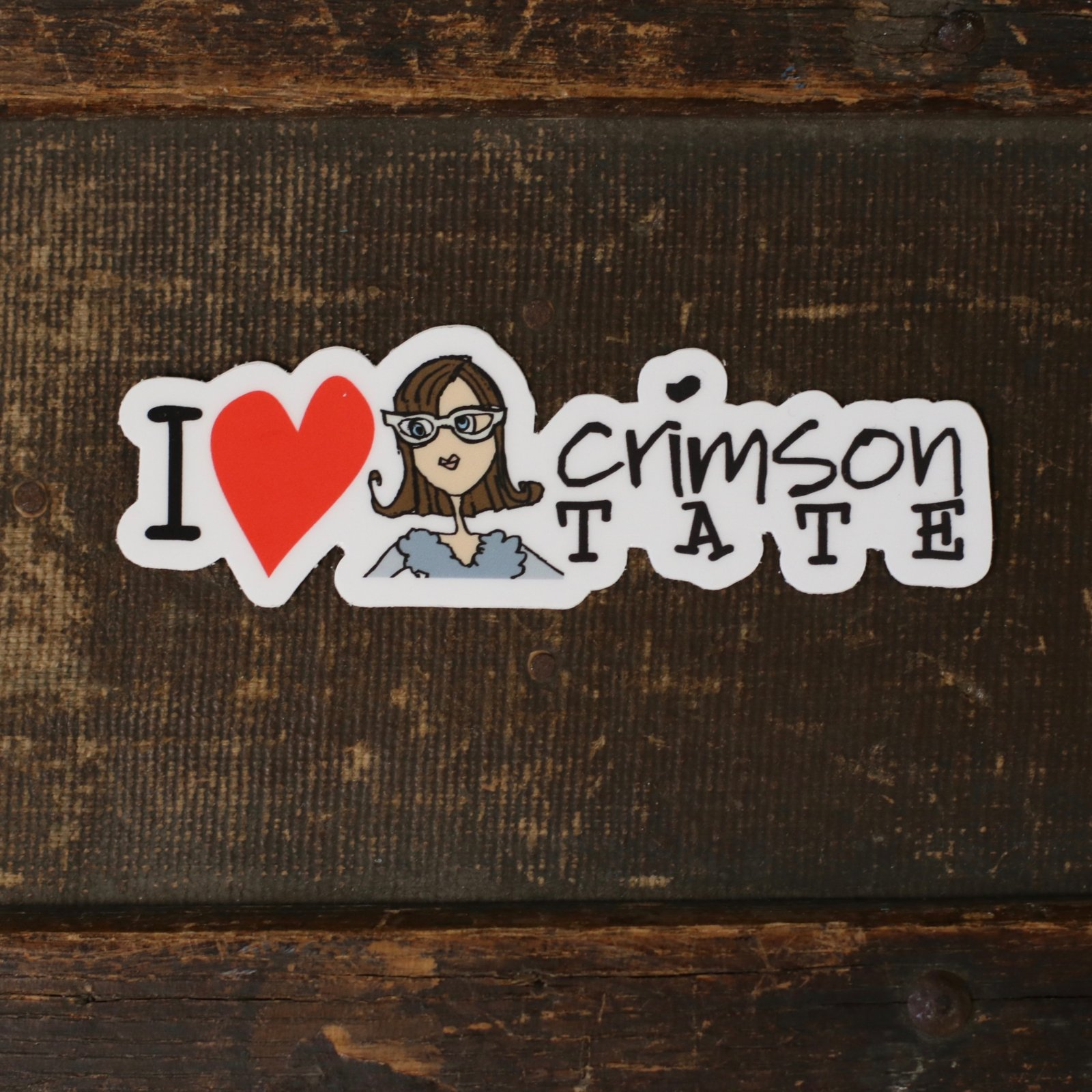 I Heart Crimson Tate Sticker