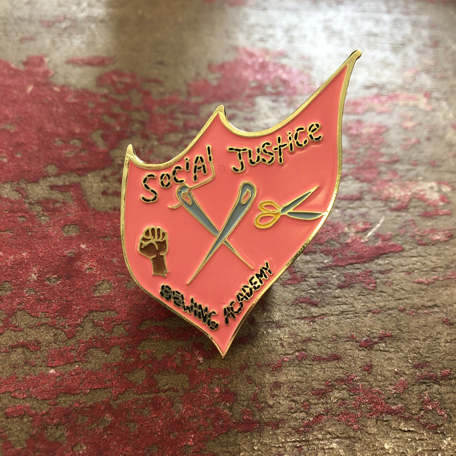 Social Justice Sewing Academy Pin