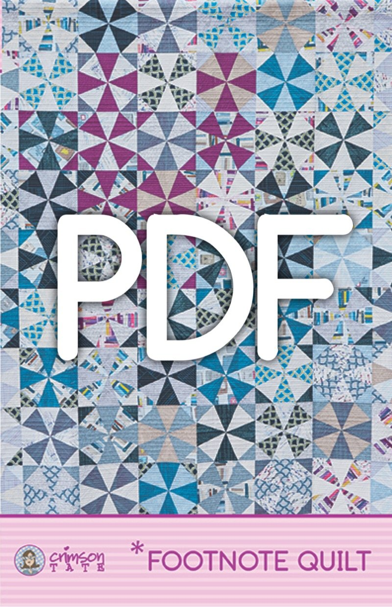 *Footnote Quilt Pattern (PDF Download)