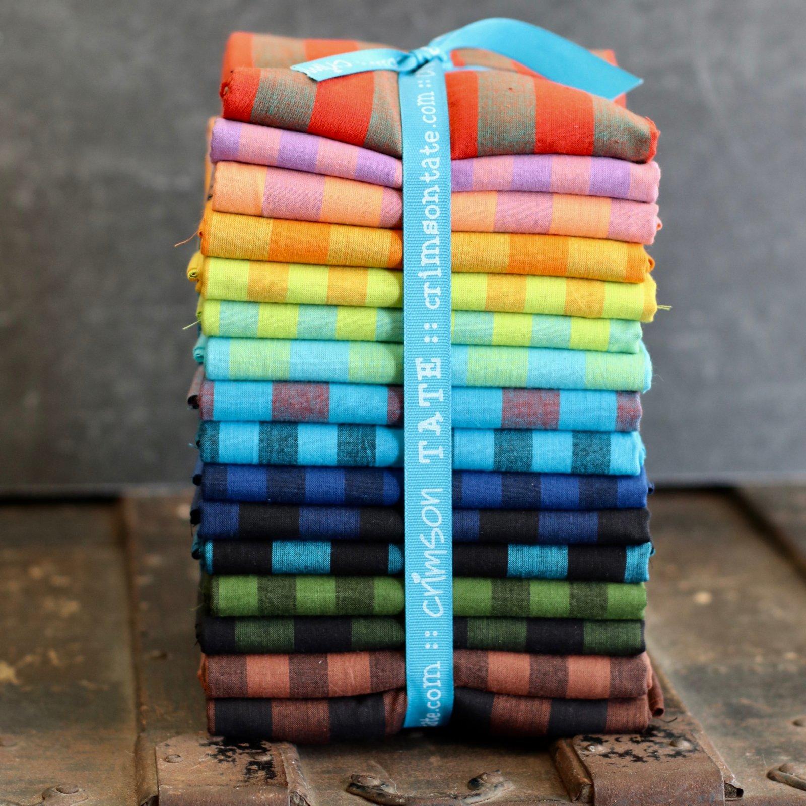 Kaffe Fassett Shot Cotton Stripes - 16 pc. Yard Bundle