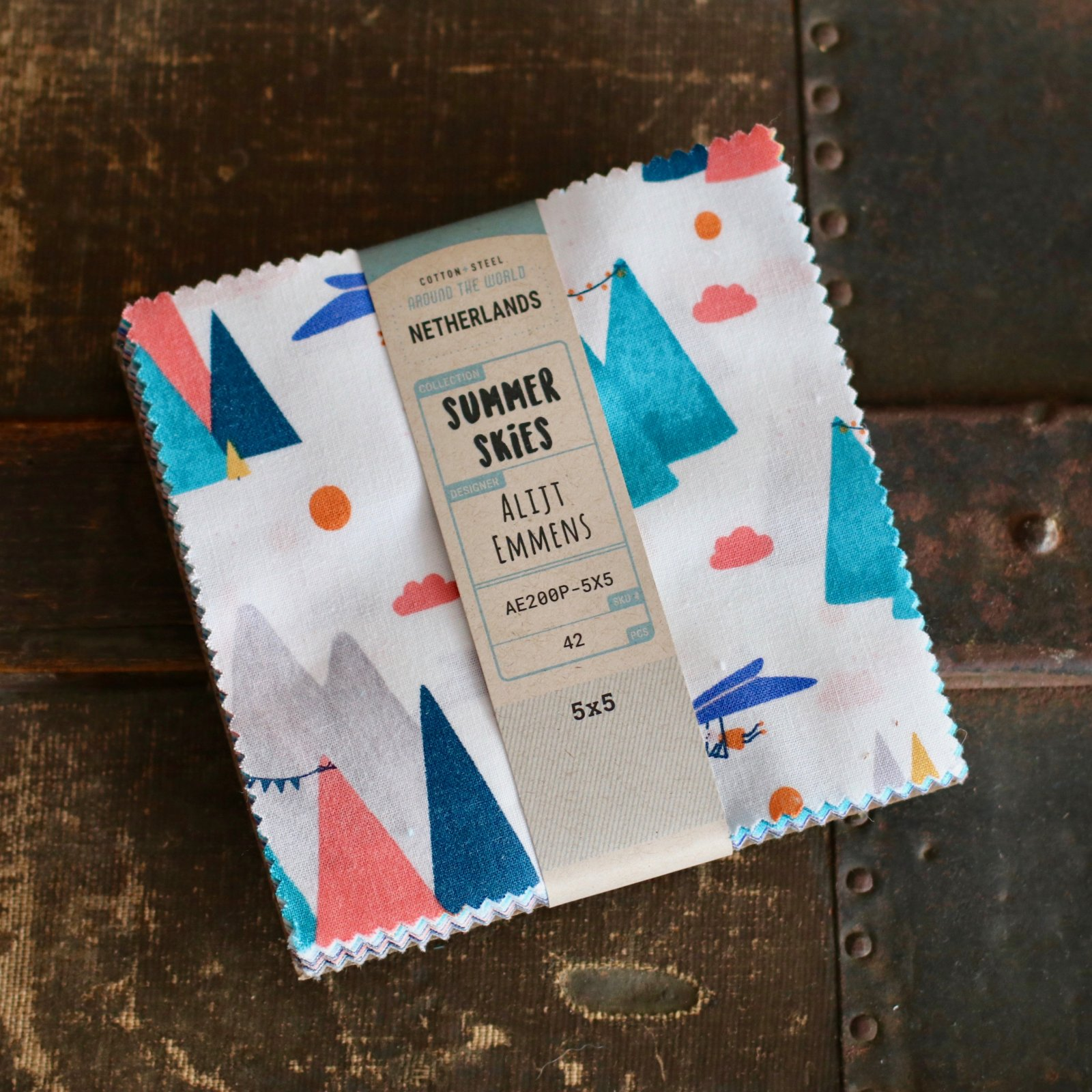 Cotton + Steel Summer Skies - 5 Charm Pack (42 pc)