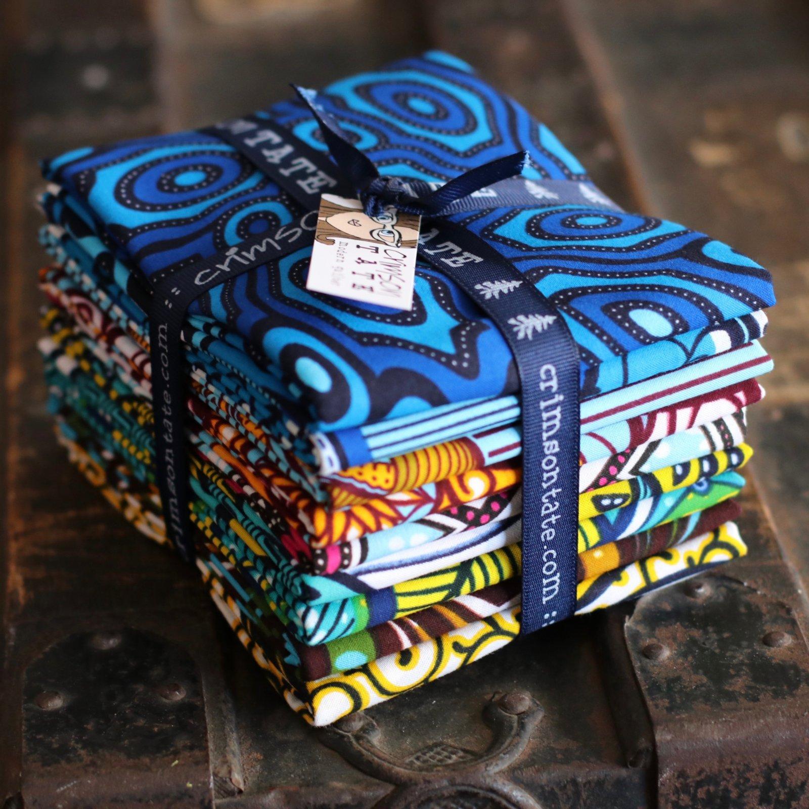Julius Holland African Wax Block Print (Goodness) - 9 pc. Half Yard Bundle