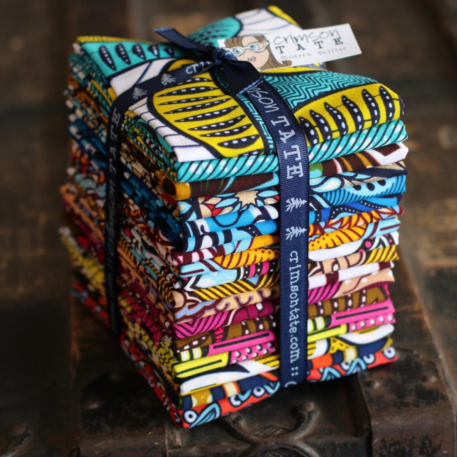Julius Holland African Wax Block Print - 18 pc. Half Yard Bundle