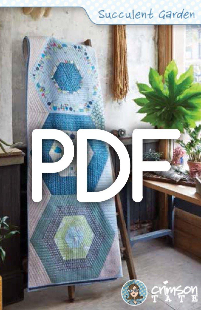 Succulent Garden Quilt Pattern (PDF Download)