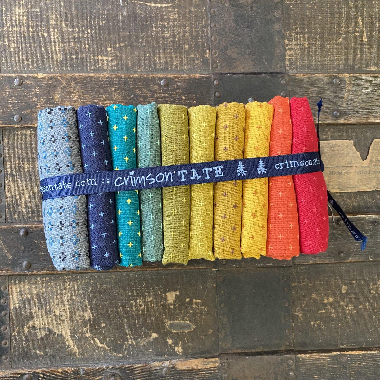 Diamond Textiles - Pluses and Crosses 10 pc. Half Yard Bundle (Earthen Rainbow)