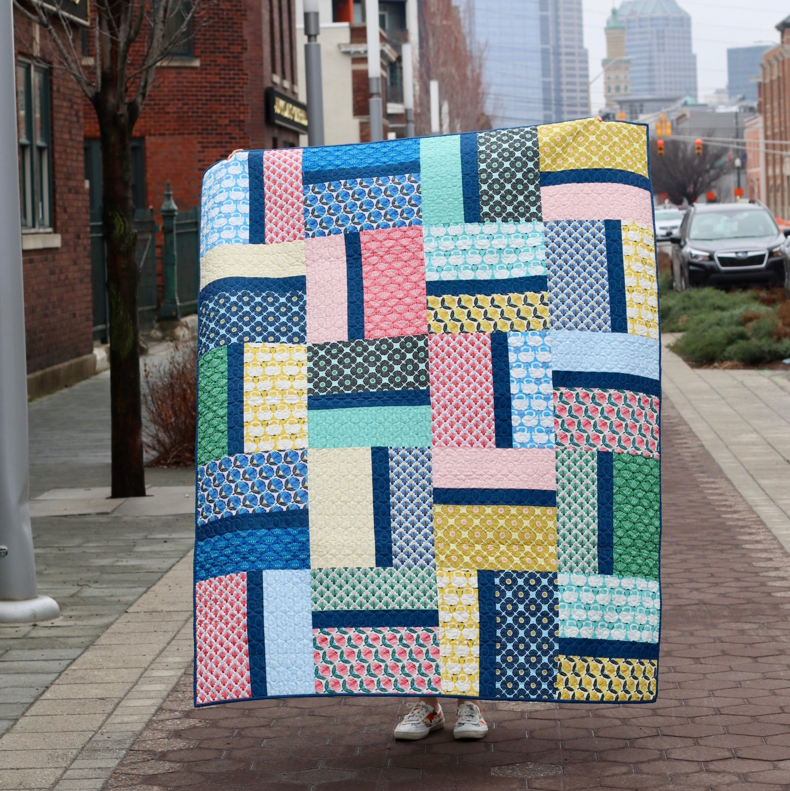 Between Friends Quilt Kit featuring Loes Van Oosten On A Spring Day