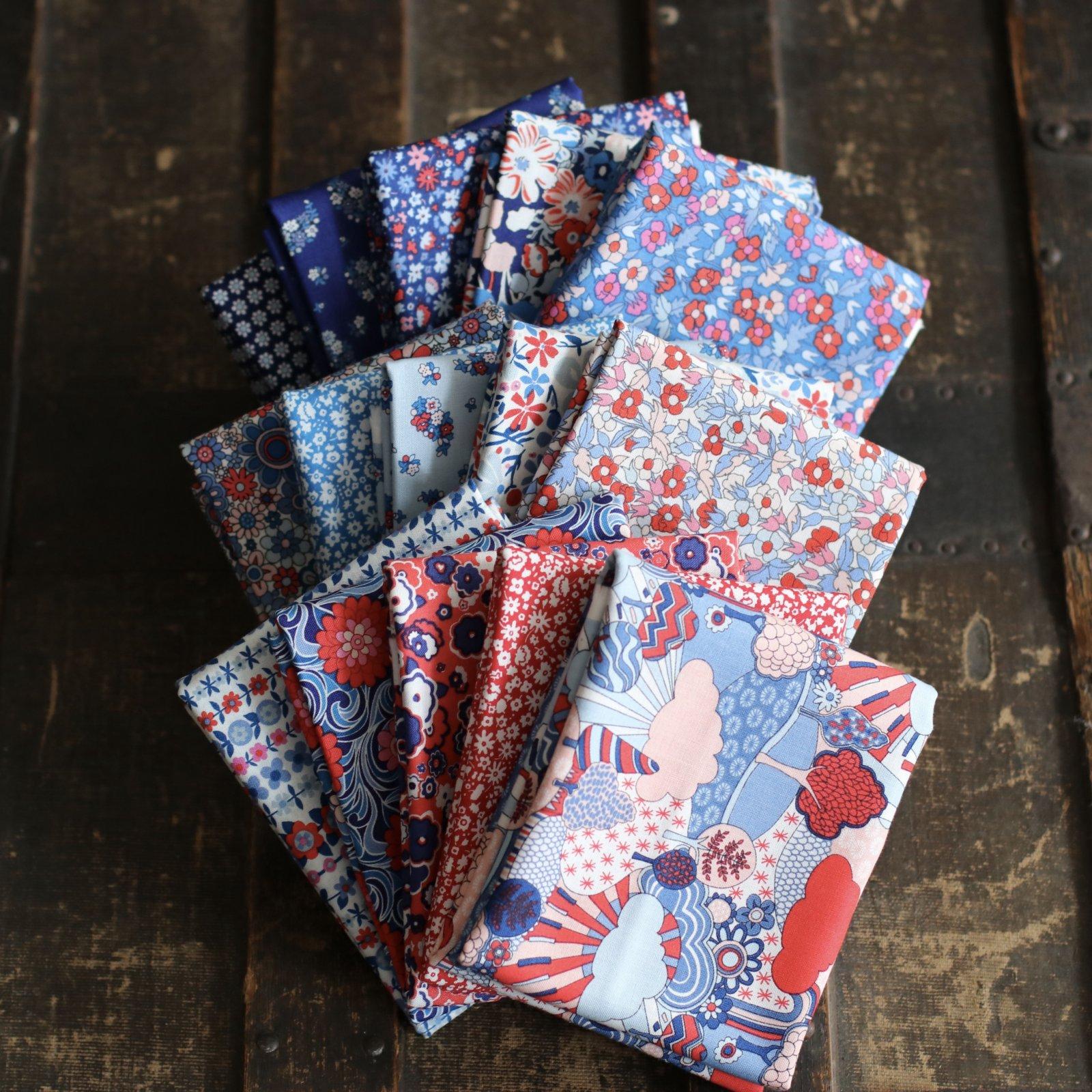 Liberty Fabrics The Carnaby Collection - Retro Indigo 15 pc. Bundles
