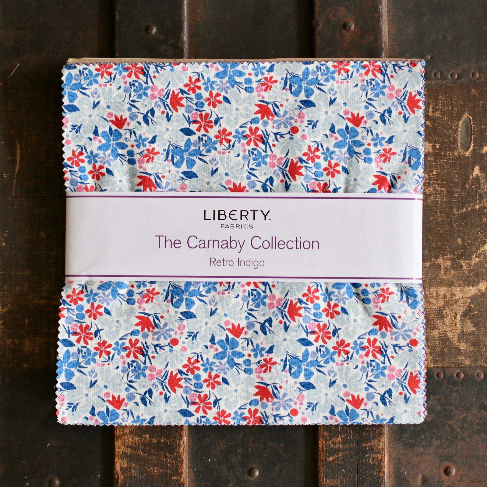 Liberty Fabrics The Carnaby Collection - Retro Indigo 10 Stacker
