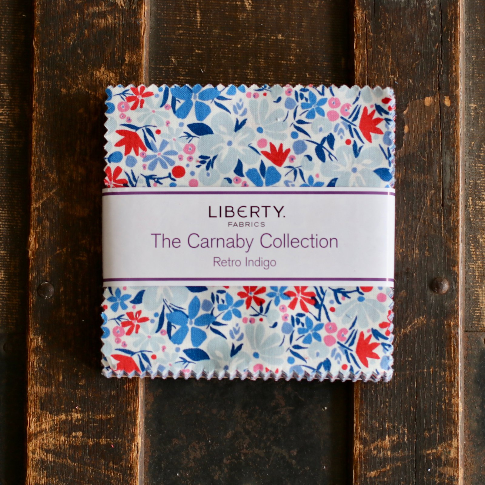 Liberty Fabrics The Carnaby Collection - Retro Indigo 5 Stacker
