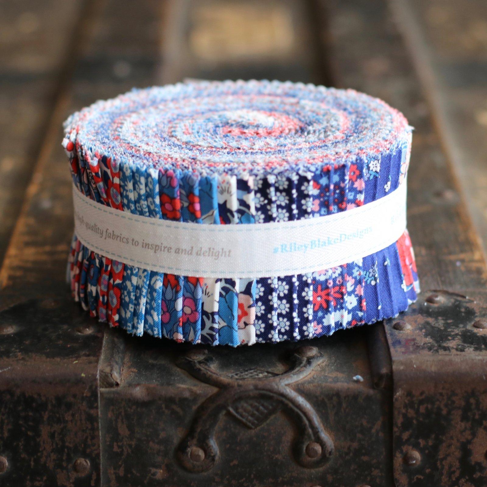 Liberty Fabrics The Carnaby Collection - Retro Indigo 2.5 Rolie Polie