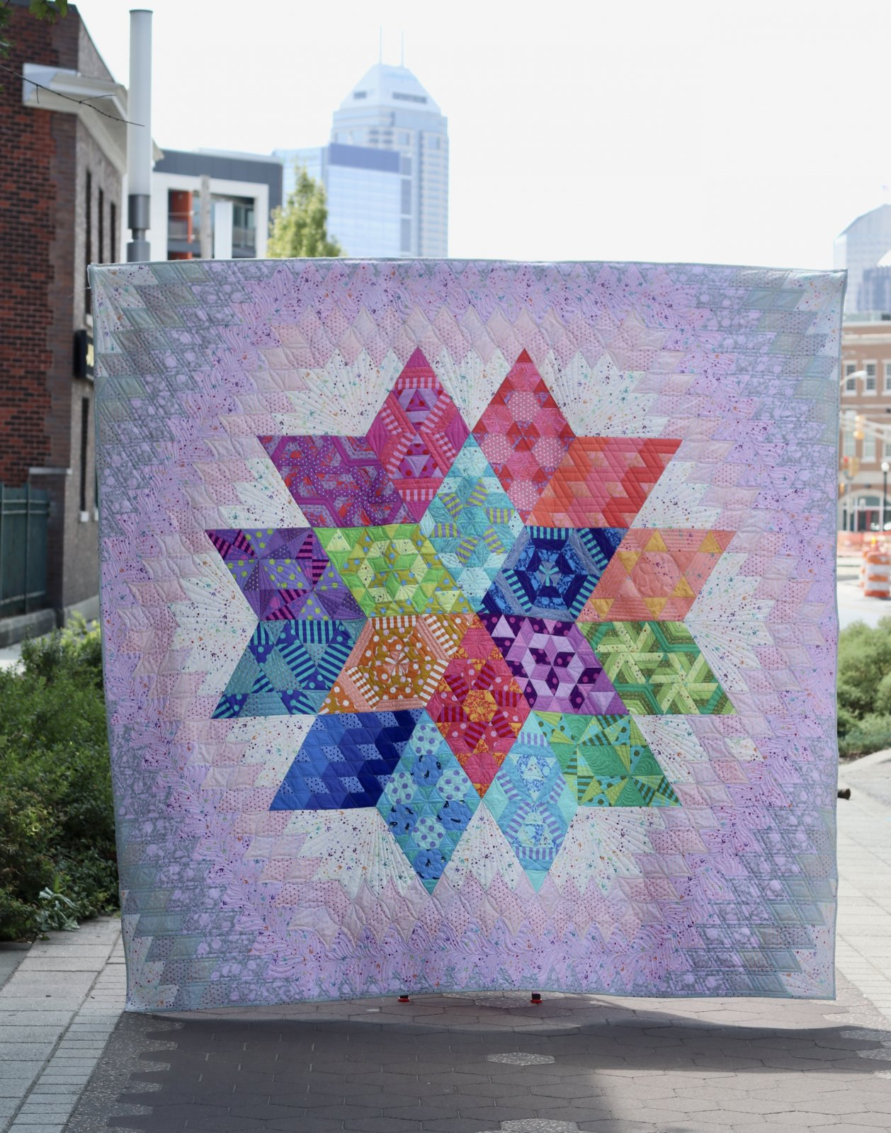 Nebula Quilt Kit featuring Tula Pink True Colors