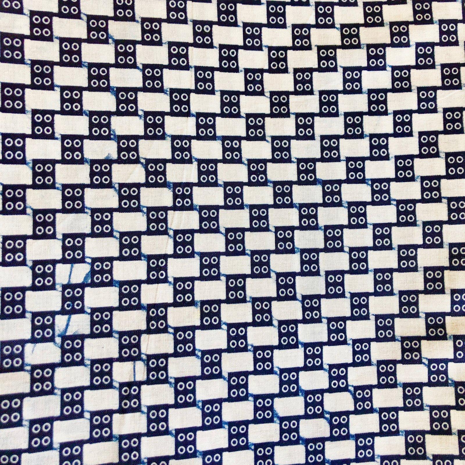 Three Yard Cut African Wax Block Fabric (Checkers)