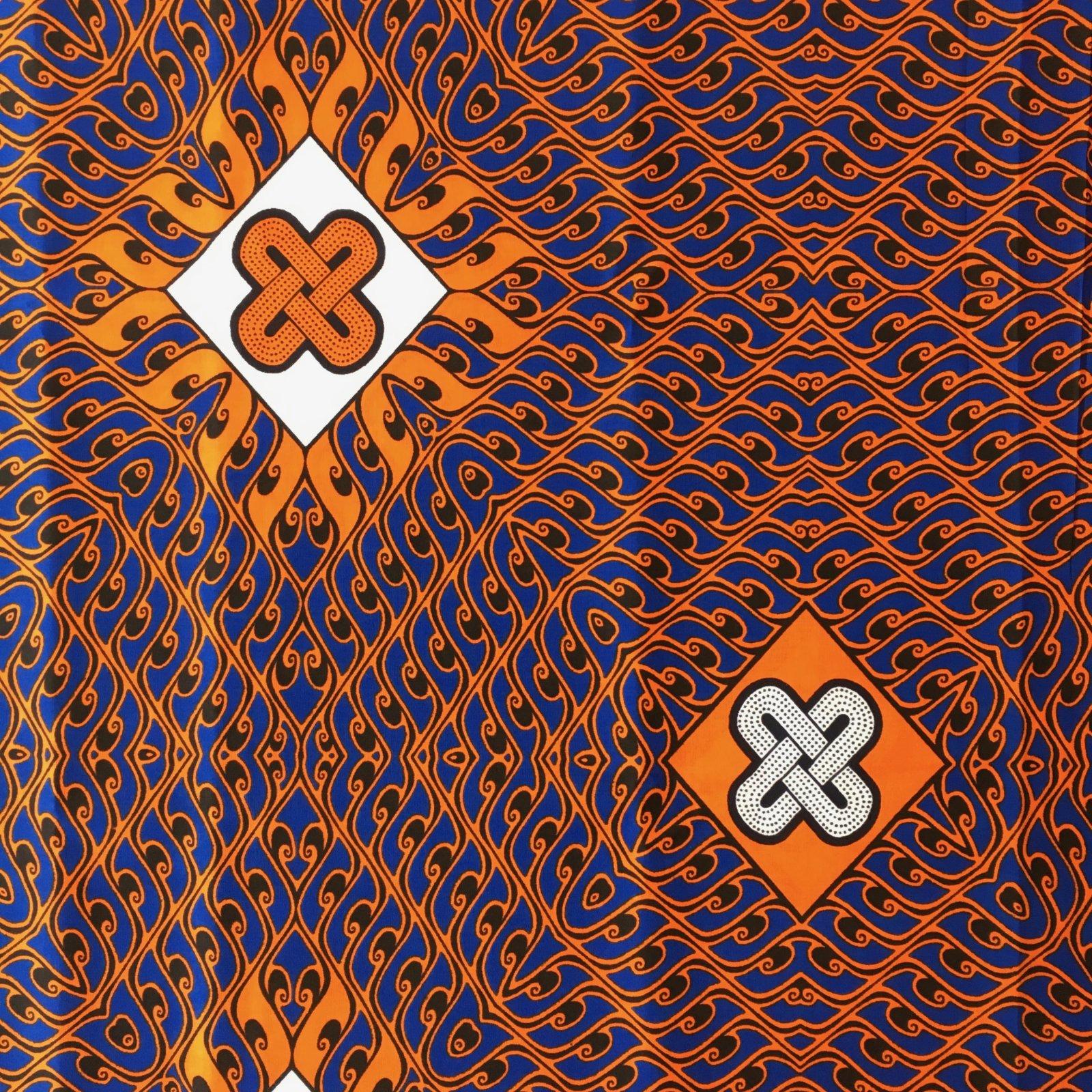 One Yard Cut African Wax Block Fabric (Kolente)