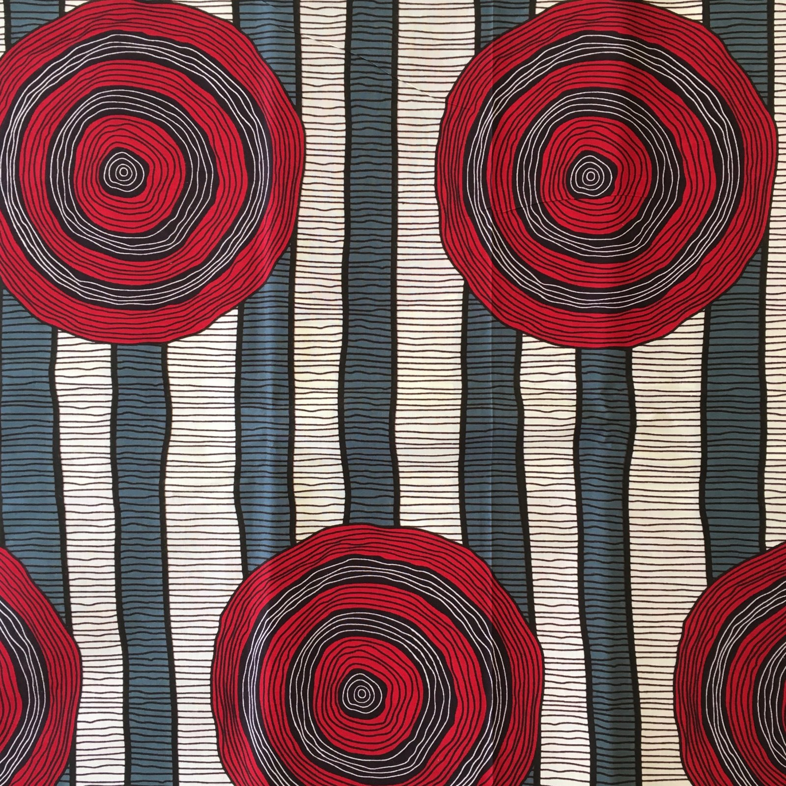 One Yard Cut African Wax Block Fabric (Benue)