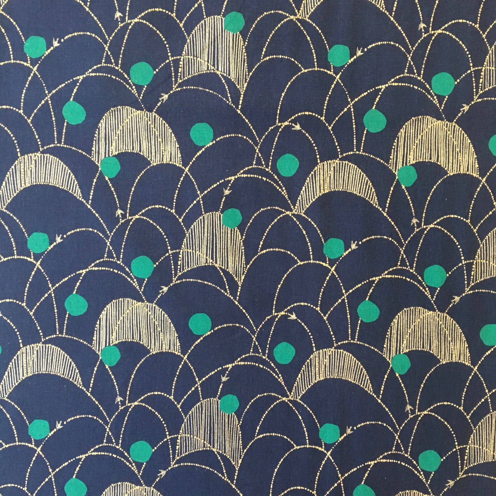 Echino Lightweight Canvas - Bird Cascade (Amaranth)