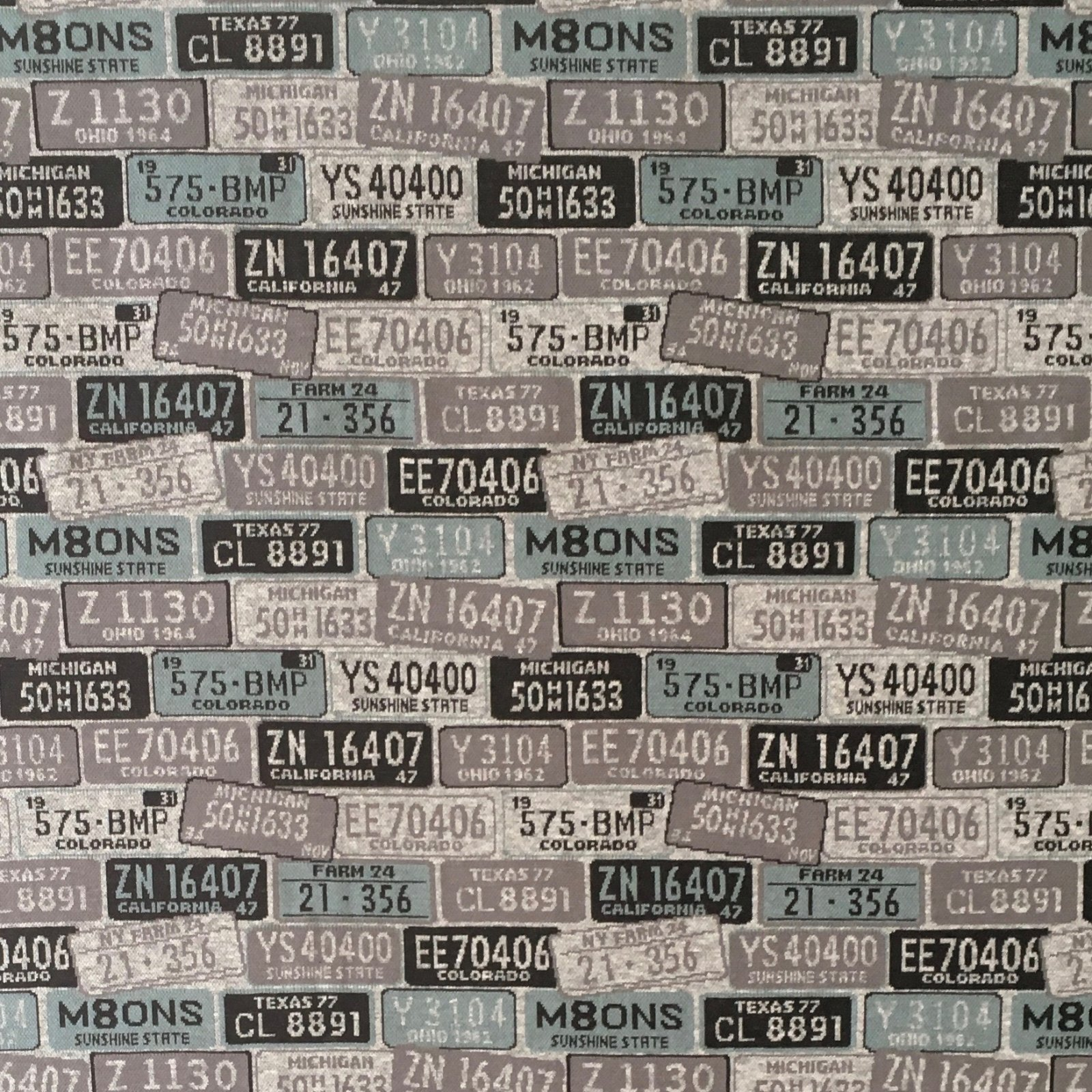 License Plates Knit Jacquard (Pigeon)