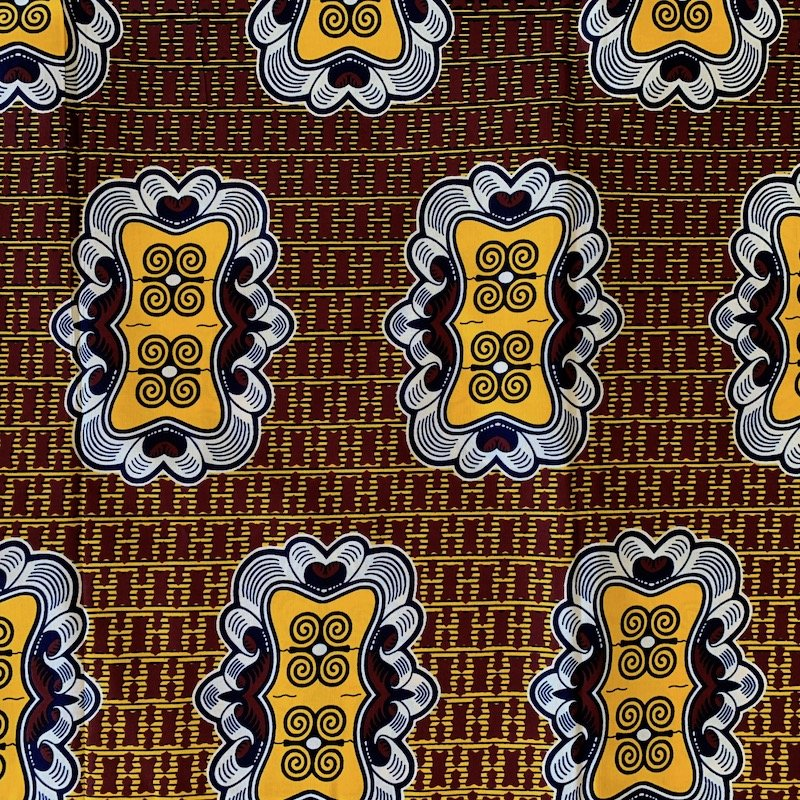 Three Yard Cut African Wax Block Fabric (Mauritius)
