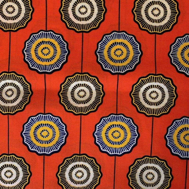 Three Yard Cut African Wax Block Fabric (Namibia)
