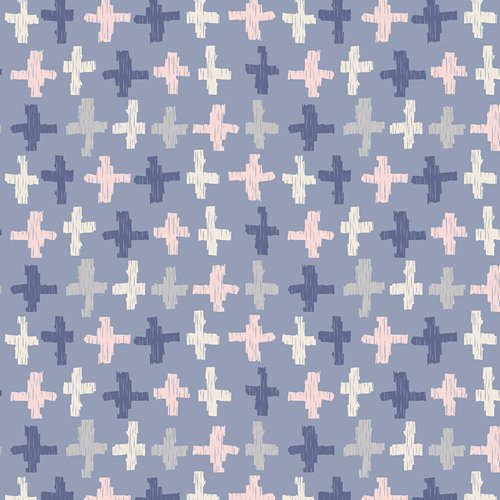 Art Gallery Fabrics (AGF) Wonderful Things - Joy Crossroads (Azure)