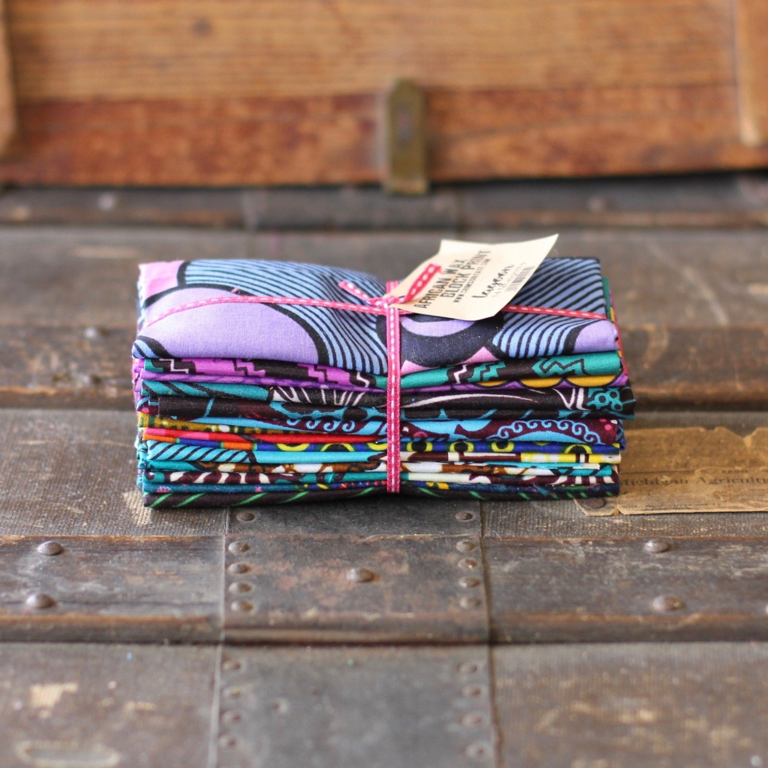 African Wax Block Print - 14 pc. Fat Eighth Bundle (Lagoon)