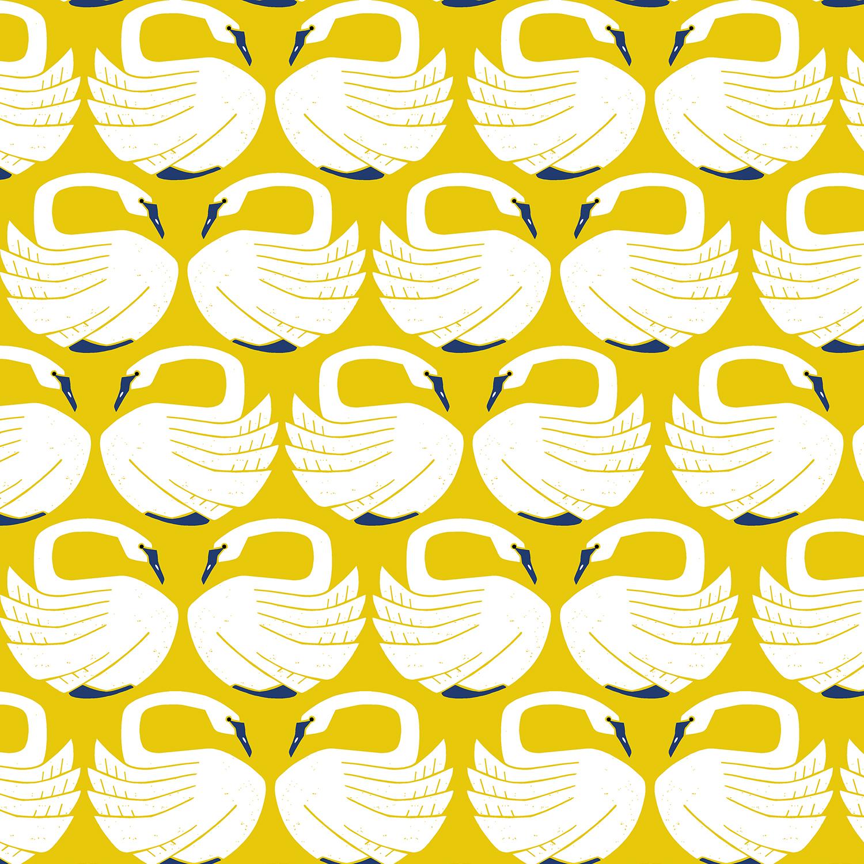 Loes van Oosten On a Spring Day - Loving Swans (Sundance)