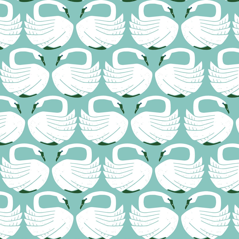 Loes van Oosten On a Spring Day - Loving Swans (Waterfall)