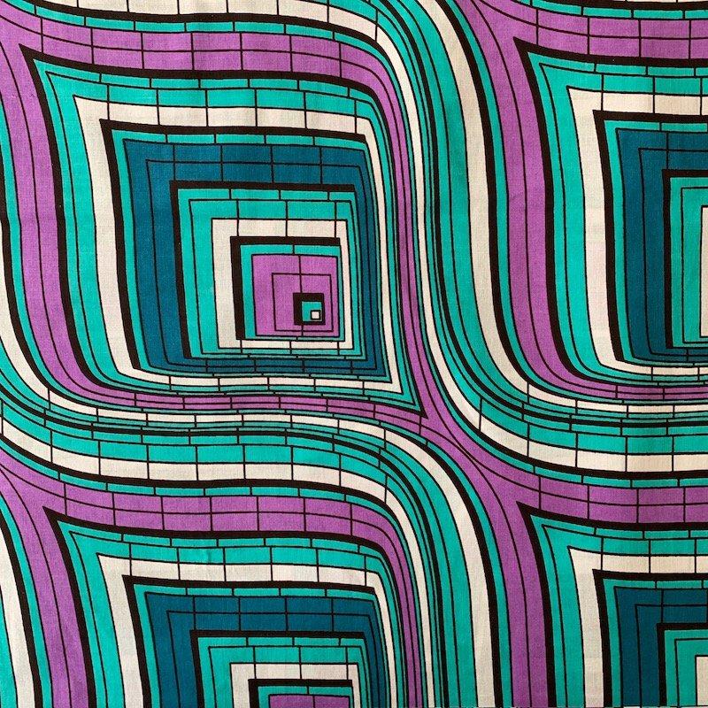 Three Yard Cut African Wax Block Fabric (Niger)