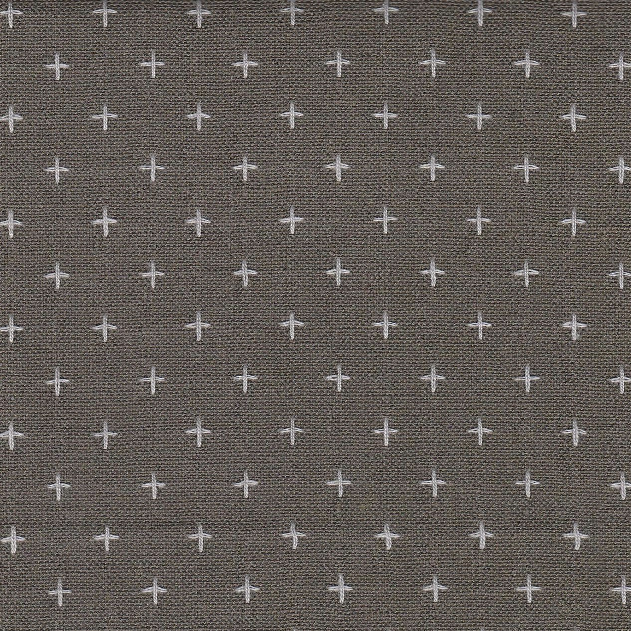 Diamond Textiles Manchester - Pluses and Crosses (Dark Grey)