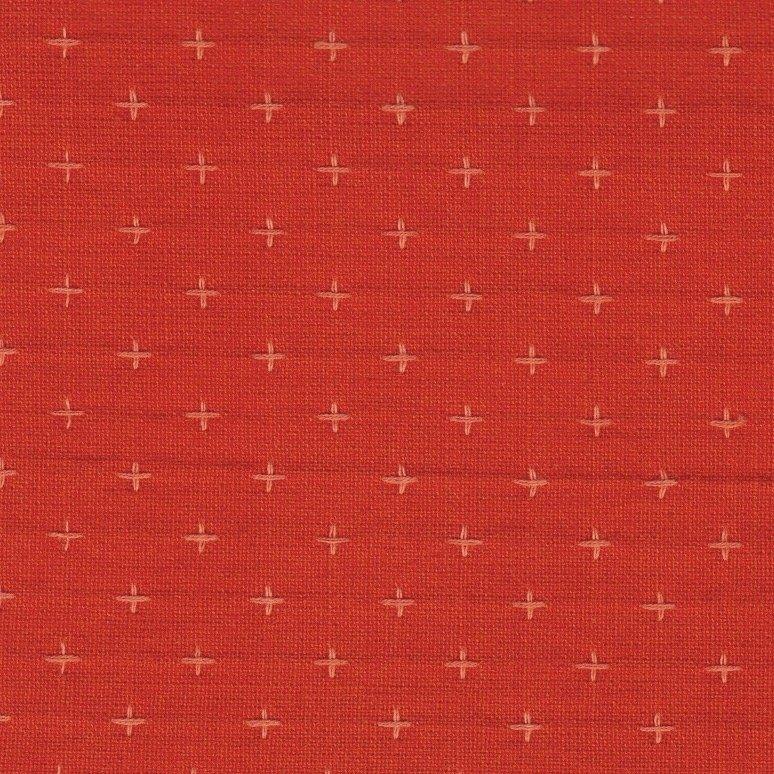 Diamond Textiles Manchester - Pluses and Crosses (Orange)