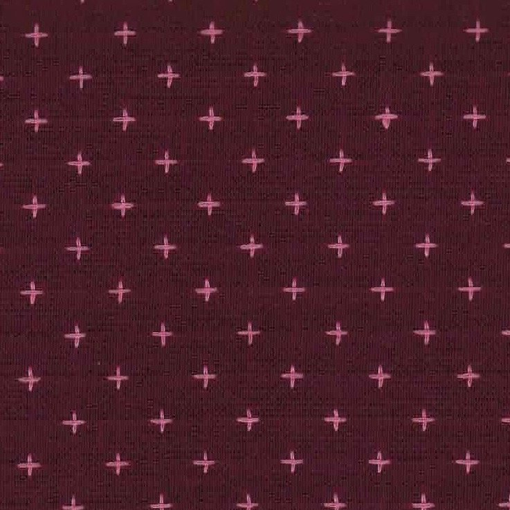 Diamond Textiles Manchester - Pluses and Crosses (Plum/Pink)