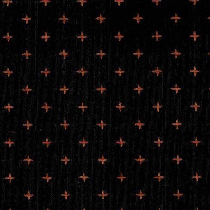 Diamond Textiles Manchester - Pluses and Crosses (Black/Orange)