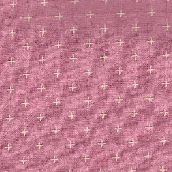 Diamond Textiles Manchester - Pluses and Crosses (Rose Quartz)