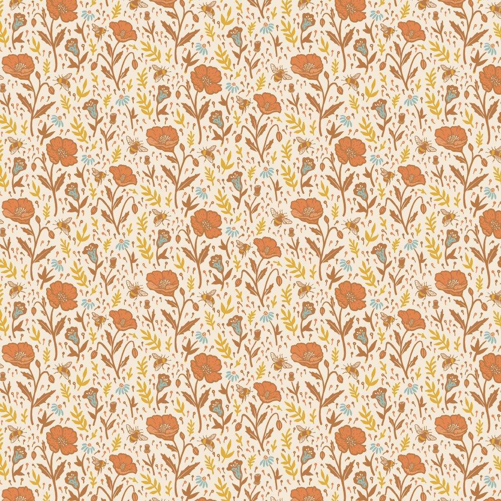 Mustard Beetle The Wild Coast - Poppies (Cream)