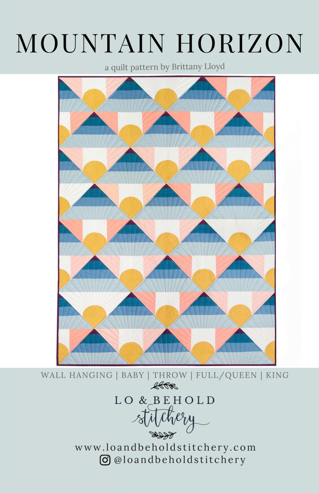Mountain Horizon Quilt Pattern