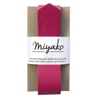 Miyako Bag Handle (Raspberry)