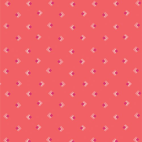 Art Gallery Fabrics (AGF) Open Heart - Everlasting Tokens (Coral)