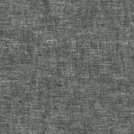 Robert Kaufman Yarn Dyed Essex Linen (Black)