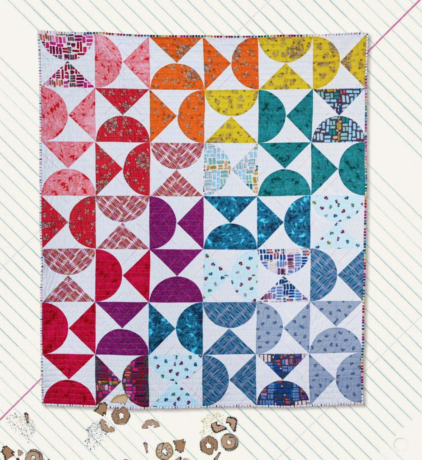 Pencil Club Pivot Quilt Kit