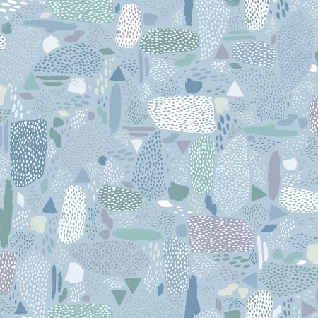 Cotton + Steel Girl's Club - Pebbles (Blue Sky)