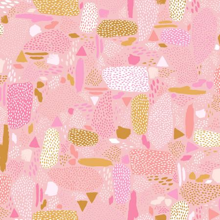 Cotton + Steel Girl's Club - Pebbles (Pink)