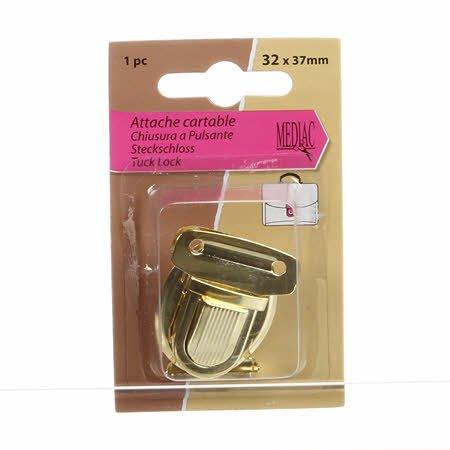 1 Push Lock Clasp (Gold)