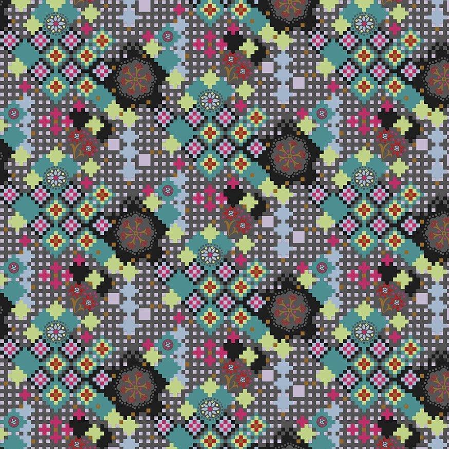 Anna Maria Horner Love Always, AM - Postage Due (Kaleidoscope)